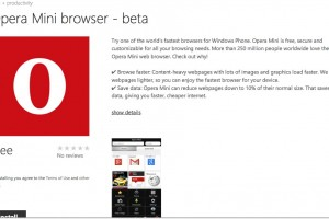 Opera Mini Browser now available for download at WP Store