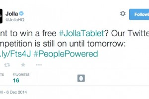 Last chance, tweet to win #JollaTablet #PeoplePowered #Jolla @JollaHQ