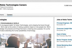 Jobs advertising at Nokia Technologies Ozo page, Sunnyvale California (e.g. Senior Engineer, Android)