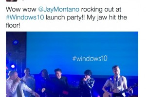 #Windows10 Launch Party Photos – On stage antics – Microsoft/Windows Goodies