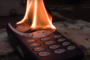Nokia 3310 Vs Flaming Ball of Nickel