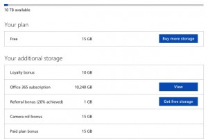 Microsoft cuts OneDrive free storage to 5GB, Unlimited to 1TB. Offers  'Free' 1 year Office 365.