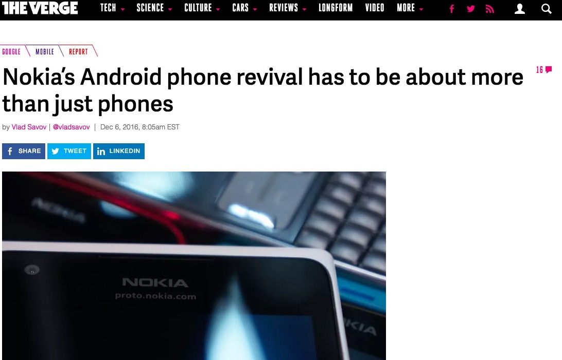 Back to reality: More than mobile phones; some pitfalls to consider for the Revered Nokia brand