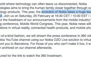 Evolution of Nokia takes a huge leap forward on Saturday #yuuuge