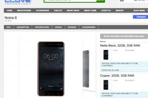 Nokia Smartphones to appear in Europe Q2 2017, Clove UK says June