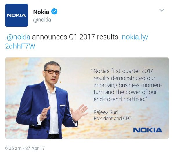 Nokia Q1 2017 results