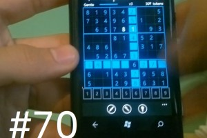 Lumiappaday #70: Sudoku on the Nokia Lumia 800 #XboxLive
